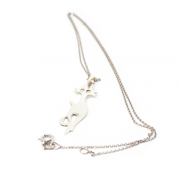 Lanț din Argint Cu Pandantiv Pisică [0]