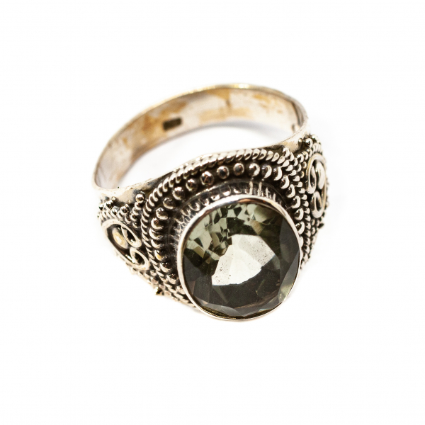 Inel din Argint cu Ametist Verde [0]