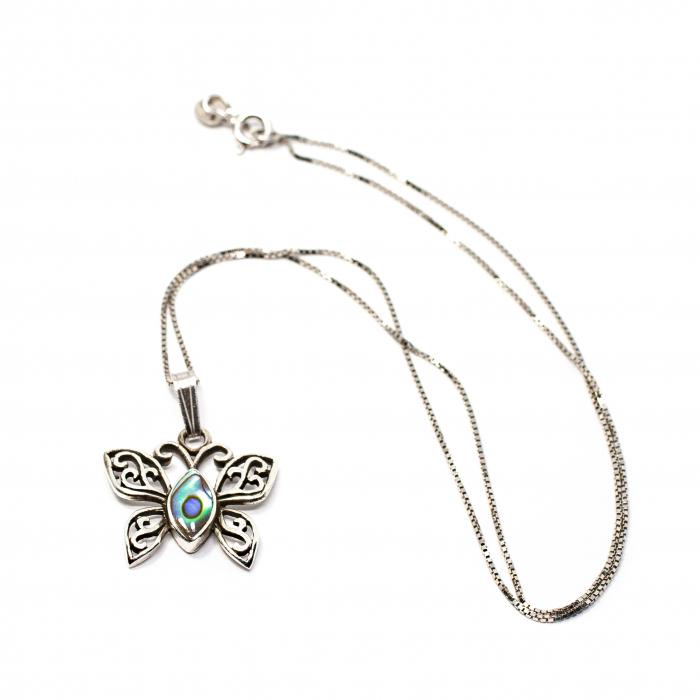 Pandantiv din Argint Fluture cu Email si Lant din Argint [0]