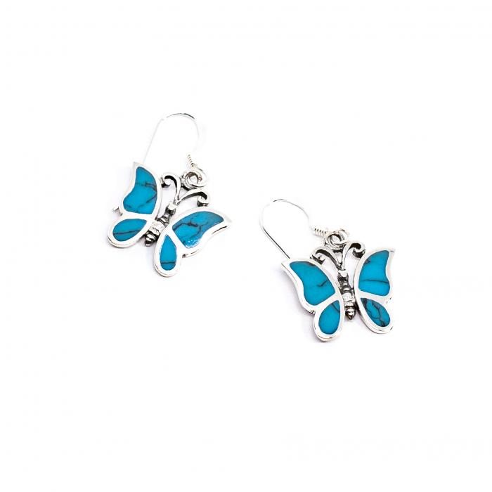 Cercei Fluture din Argint cu Email [0]