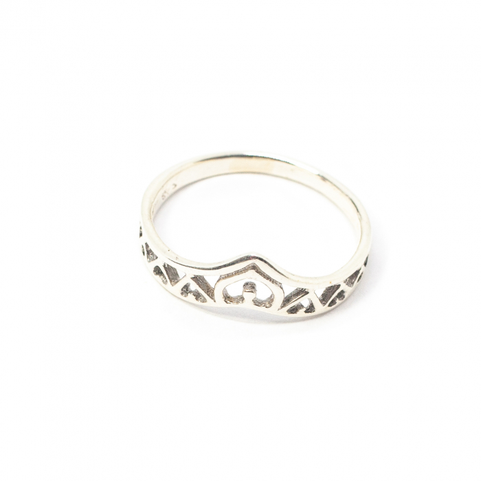 Inel din Argint cu Inimioare 0