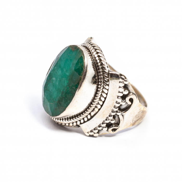 Inel din Argint cu Agat Verde 0