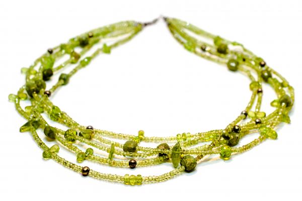 Colier Creație cu Peridot,Perle de Cultura si Argint [0]