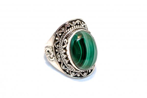 Inel din Argint cu Malachit 1