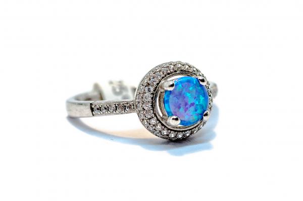Inel din Argint cu Opal si Zirconii 2