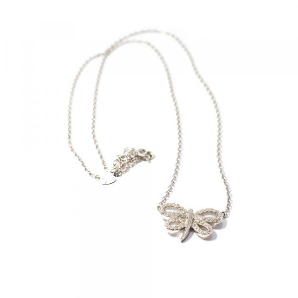 Lanț din Argint cu Pandantiv Fluture [0]