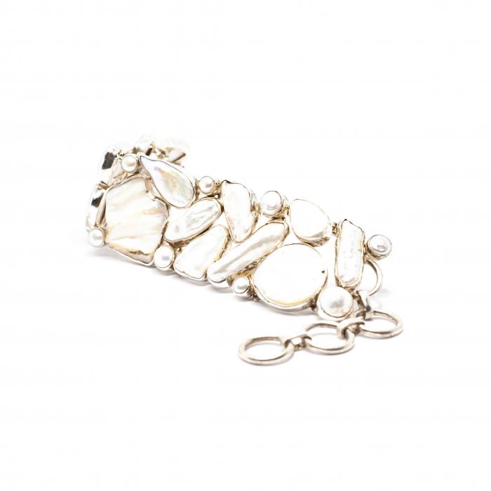 Bratara din Argint cu Perla de Cultura 0