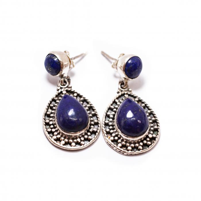 Cercei din Argint cu Lapis Lazuli [0]