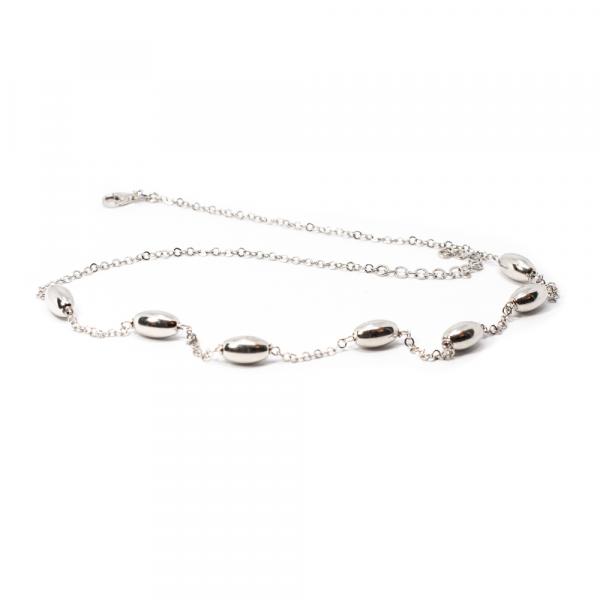 Lanț din Argint cu Biluțe Ovale [0]