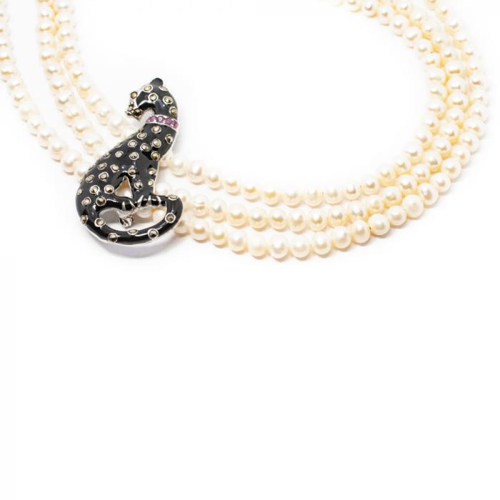 """Colier """"Sheba"""" din 3 siruri de perle [0]"""