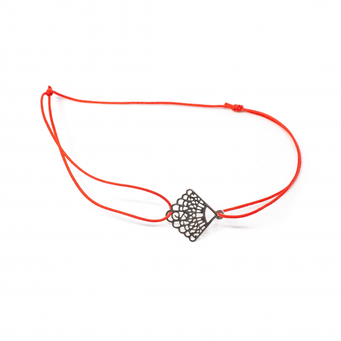 Brațară Șnur Roșu cu Pandantiv din Argint 0
