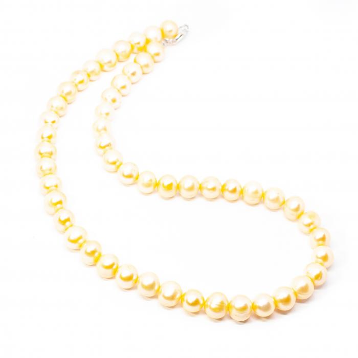 Colier Creatie cu Perle de Cultura Albe si Argint [0]