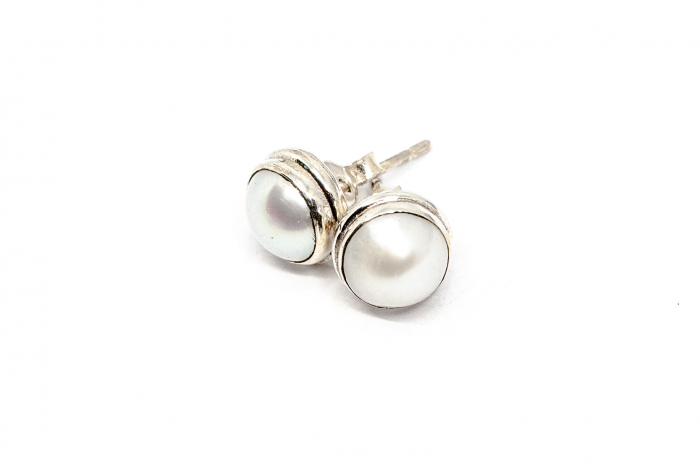 Cercei din Argint cu Perla de Cultura [0]