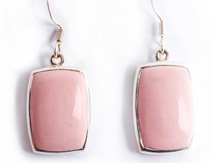 Cercei din Argint cu  Piatră Roz0