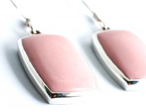 Cercei din Argint cu  Piatră Roz1