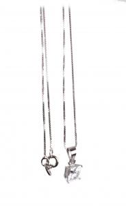 Lanţ din Argint cu Pandantiv Zirconiu0