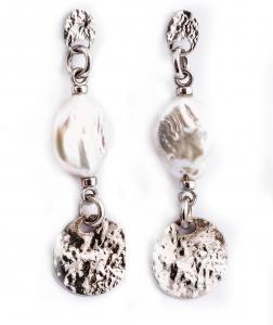 Cercei din Argint cu Perle de Cultură0