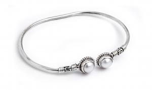 Brățară din Argint cu Perle de Cultură Flexibilă0