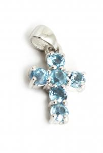 Pandantiv din Argint Cruce Diverse Pietre Semiprețioase0