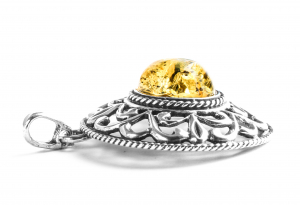 Pandantiv din Argint cu  Chihlimbar1