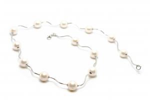 Lant Creatie Perle si Baghete de Argint0