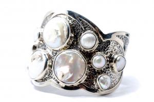 Bratara din Argint  Catusa cu  Perla0