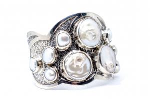 Bratara din Argint  Catusa cu  Perla1