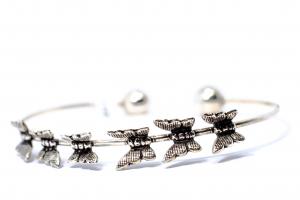 Bratara din Argint Catusa Mica cu Fluturi0
