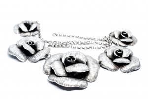 Lant Argint cu Trandafiri1
