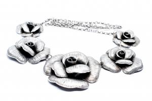 Lant Argint cu Trandafiri0