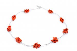 Lant Creatie Coral cu Baghete din Argint0