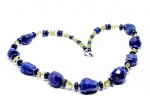Colier Creatie Lapis Lazuli si Peridot0