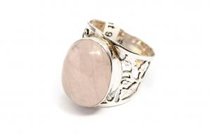 Inel din Argint cu Cuart Roz1
