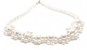 Colier Creatie din Perle cu Argint0