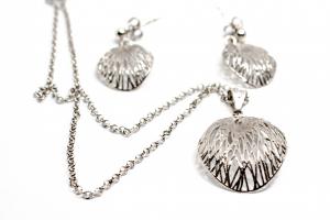 Set Lanț și Cercei din Argint [1]