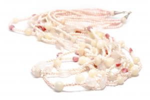 Colier cu Perla de Cultura,Rodocrozit si Agat1