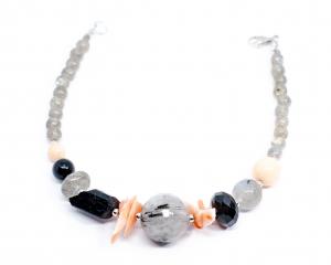 Bratara Creatie Coral,Onix,Turmalina Neagra,Labradorit,Cuart cu Ace de Turmalina1