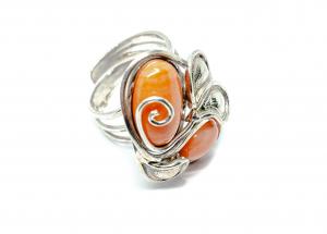 Inel din Argint cu Coral0
