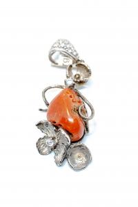 Pandantiv Coral Floare Zirconiu0