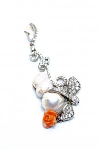 Pandantiv Perla Baroc si Floare Coral0