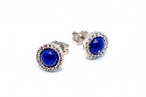 Cercei Lapis  Lazuli si Zirconiu0