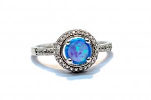 Inel din Argint cu Opal si Zirconii0