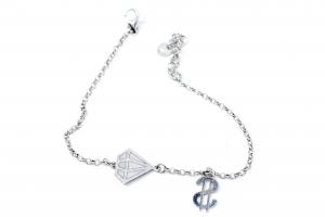 Bratara Argint Dolar si Diamant1