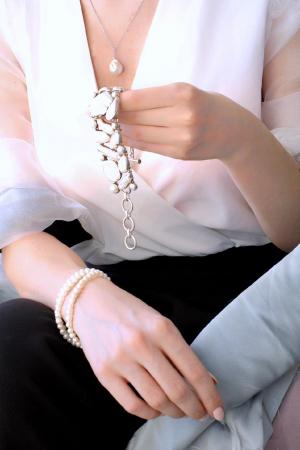 Bratara Creatie cu Perla de Cultura si Argint [1]