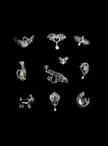 Brosa din Argint Fluture cu Email, Marcasite si Perle de Cultura1