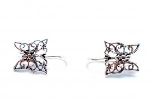 Cercei Argint Fluture2