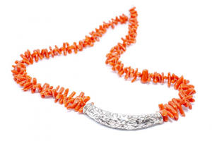 Colier din Argint cu Coral0