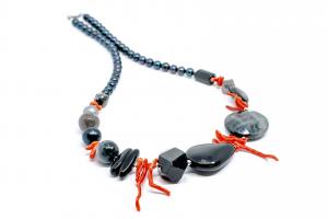 Colier Creatie Onix, Coral, Perle [1]