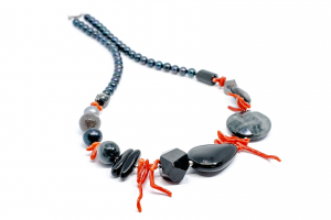 Colier Creatie Onix, Coral, Perle [0]