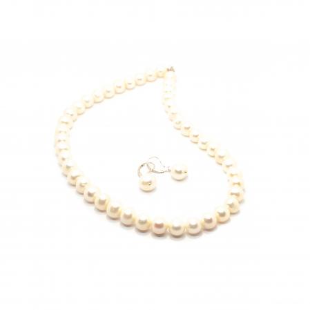 Set Colier si Cercei cu Perle de Cultura si Argint [1]